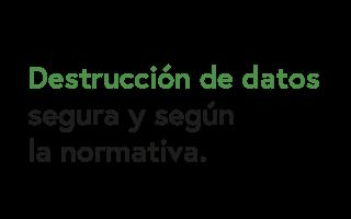 Destrucción de datos segura y según la normativa - Residuos Electrónicos